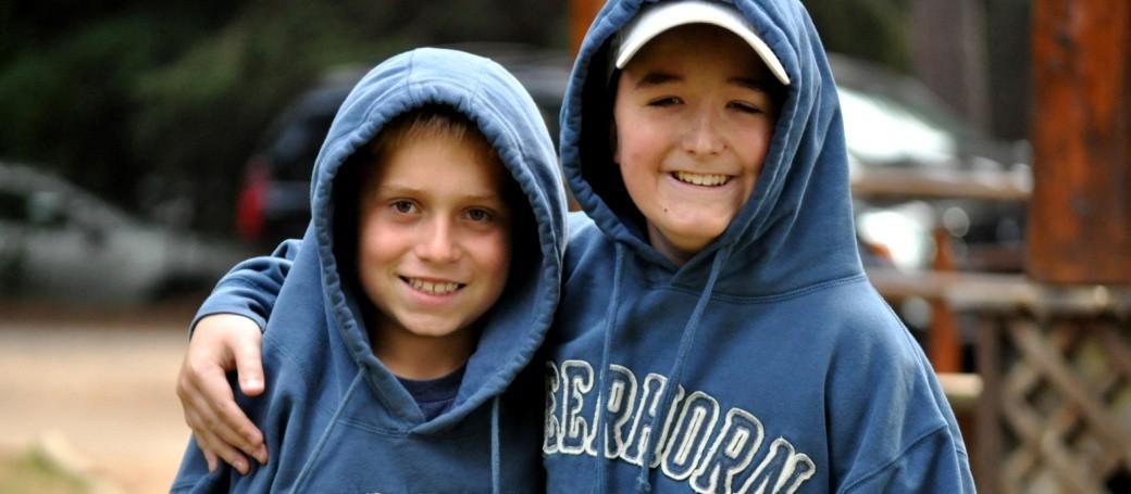 regular fellow-two blue hoodies