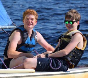 George and Philip having fun sailing